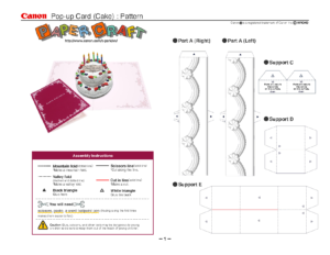Birthday Cake Pop-Up Card Template | Cards | Pop Up Card regarding Wedding Pop Up Card Template Free