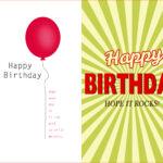 Birthday Card Template Word Quarter Fold Free 2013 Text Regarding Quarter Fold Birthday Card Template