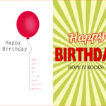 Birthday Card Template Word Quarter Fold Free 2013 Text With Regard To Quarter Fold Card Template