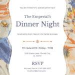 Birthday Dinner Invitation Templates   Party Invitation Card In Free Dinner Invitation Templates For Word