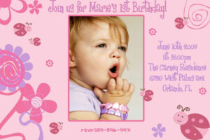 Birthday Invitation Card Design Free Download – Fieldstation regarding First Birthday Invitation Card Template