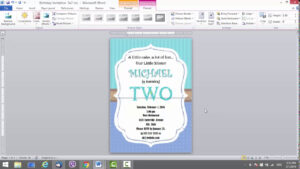 Birthday Invitation Template For Ms Word intended for Microsoft Word Birthday Card Template