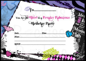 Birthday Invitations Monster High Background 1 Hd Wallpapers in Monster High Birthday Card Template