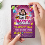 Birthday Party Invitation Card Design Psdpsd Freebies On Throughout Photoshop Birthday Card Template Free