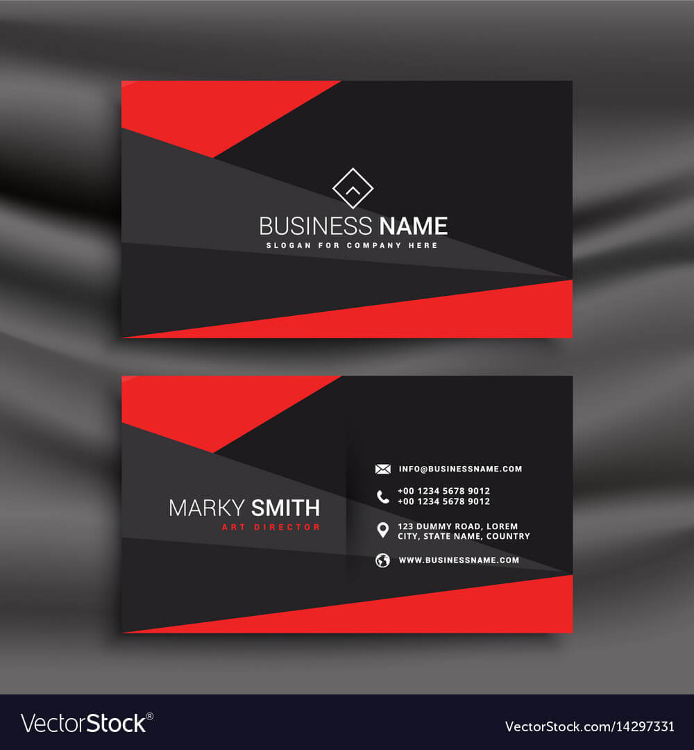 Black And Red Business Card Template With Regarding Buisness Card Template