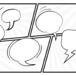 Black And White Comic Layout Powerpoint Template Throughout Powerpoint Comic Template