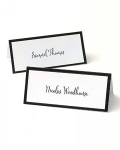 Black Border Printable Place Cards pertaining to Gartner Studios Place Cards Template