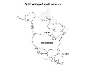 Blackline Map Of The United States And Travel Information throughout Blank Template Of The United States