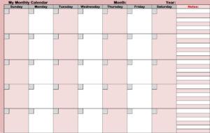 Blank Activity Calendar Template – Free Calendar Collection with Blank Activity Calendar Template