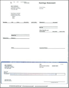 Blank Adp Pay Stub Template – Template 1 : Resume Examples in Blank Pay Stub Template Word
