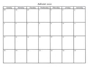 Blank Advent Calendar For Kids 2017 Calendar Template Within pertaining to Blank Calendar Template For Kids