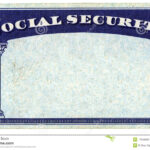 Blank American Social Security Card Stock Photo – Image Of Inside Social Security Card Template Download