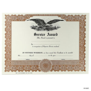 Blank Award And Achievement Certificates And Certificates Of within Recognition Of Service Certificate Template