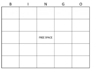 Blank Bingo Cards | Example Of Blank Bingo Cards | Things To inside Blank Bingo Template Pdf