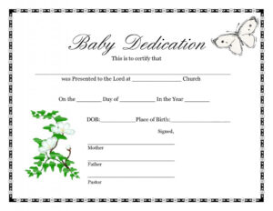 Blank Birth Certificate | Template Business For Baby Death Certificate Template
