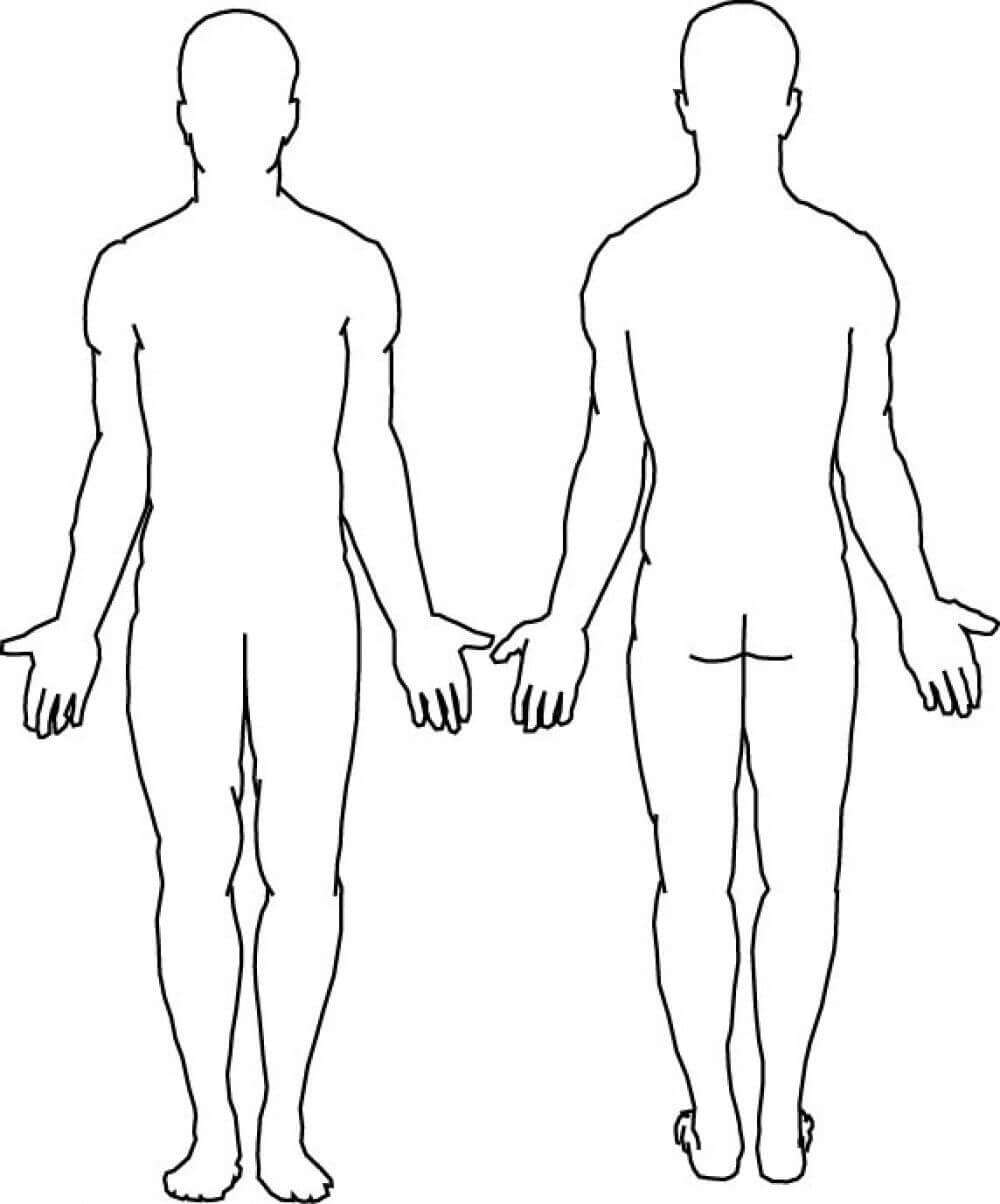 Blank Body | Final Tattoo Ideas | Human Body Diagram, Body Throughout Blank Body Map Template