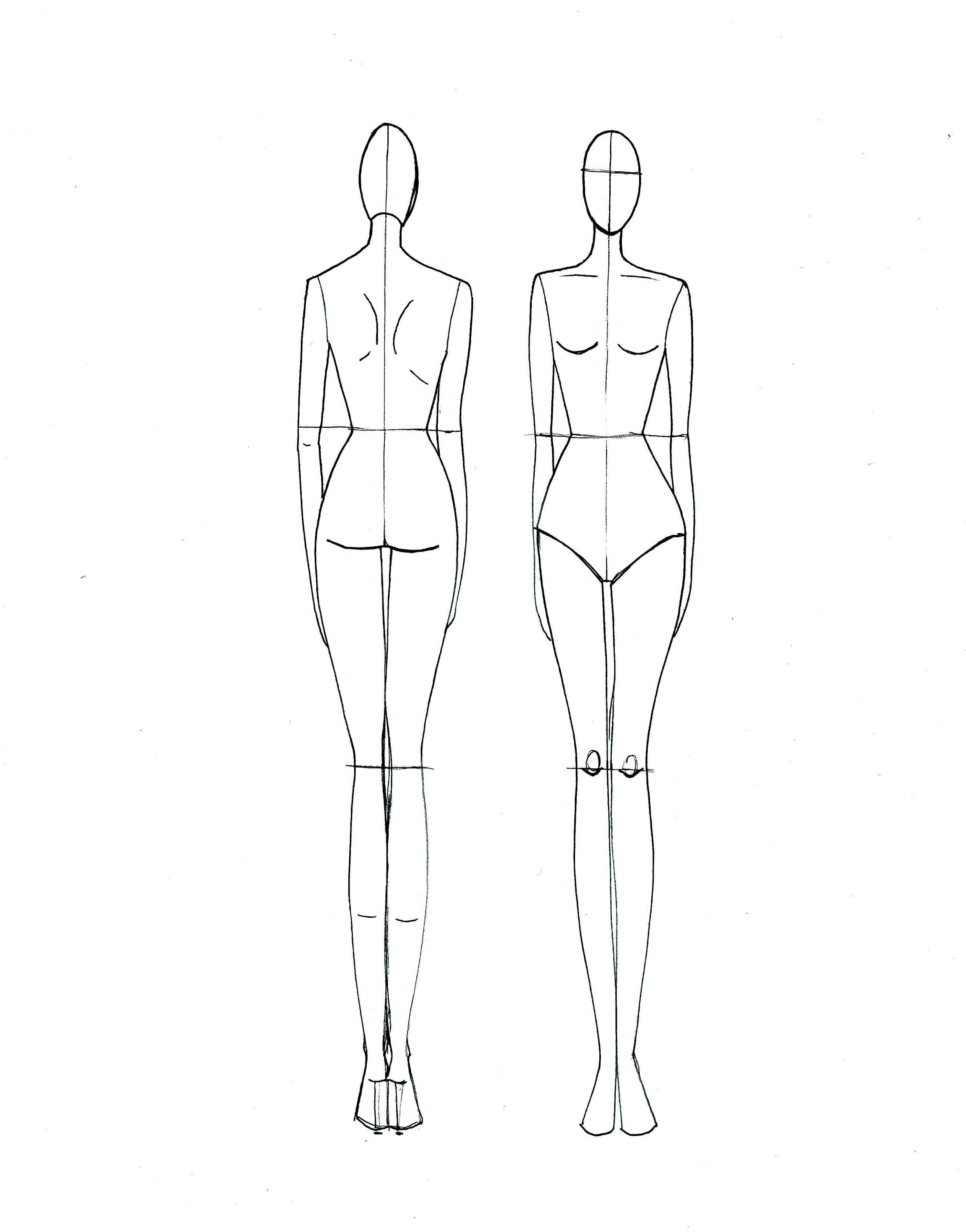 Blank Body Sketch At Paintingvalley | Explore Collection Throughout Blank Model Sketch Template