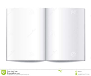 Blank Book Pages Template Stock Vector. Illustration Of Note throughout Blank Magazine Template Psd