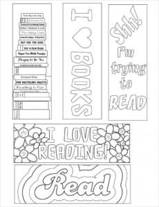 Blank Bookmark Template, Bookmark Template | Bookmarker in Free Blank Bookmark Templates To Print