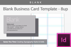 Blank Business Card Indesign Template within Birthday Card Template Indesign