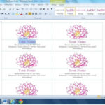 Blank Business Card Template Microsoft Word 2013 Throughout Word 2013 Business Card Template