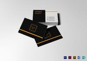 Blank Business Card Template throughout Plain Business Card Template