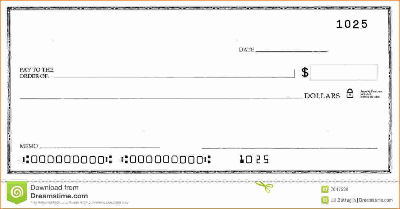 Blank Business Check Template | Template | Business Checks Intended For Large Blank Cheque Template
