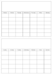 Blank Calendar Template Free Printable Blank Calendars for Month At A Glance Blank Calendar Template