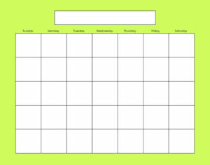 Blank Calendars Activity Calendars | Activity Calendar inside Blank Activity Calendar Template