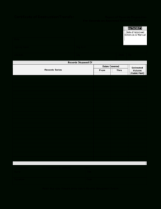 Blank Certificate Of Destruction | Templates At for Free Certificate Of Destruction Template