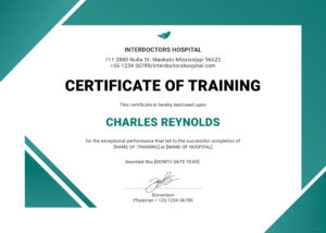 Blank Certificate Of Training Template Doc Pdf Formatted Word With Regard To Training Certificate Template Word Format
