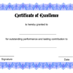 Blank Certificate Templates Of Excellence   Kiddo Shelter Throughout Free Printable Blank Award Certificate Templates