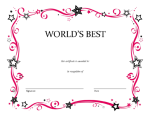 Blank Certificate Templates To Print | Activity Shelter Inside Pages Certificate Templates