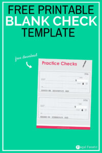 Blank Check Template – Teaching Teens How To Manage Money inside Fun Blank Cheque Template
