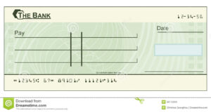 Blank Cheque Illustration Stock Vector. Illustration Of within Blank Cheque Template Download Free