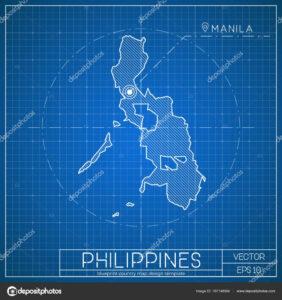Blank City Map Template | Philippines Blueprint Map Template within Blank City Map Template