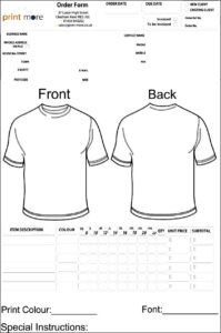Blank Clothing Order Form Template | Besttemplates123 within Blank T Shirt Order Form Template