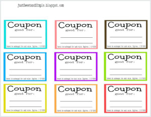 Blank Coupon Template Free – Verypage.co regarding Coupon Book Template Word