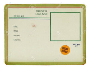 Blank Drivers License With Visible Old Paper Texture, Scratchs with Blank Drivers License Template