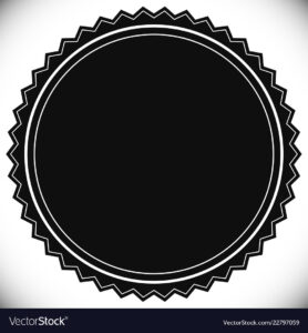 Blank Empty Stamp Seal Or Badge Template in Blank Seal Template