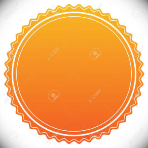 Blank Empty Stamp, Seal Or Badge Template in Blank Seal Template