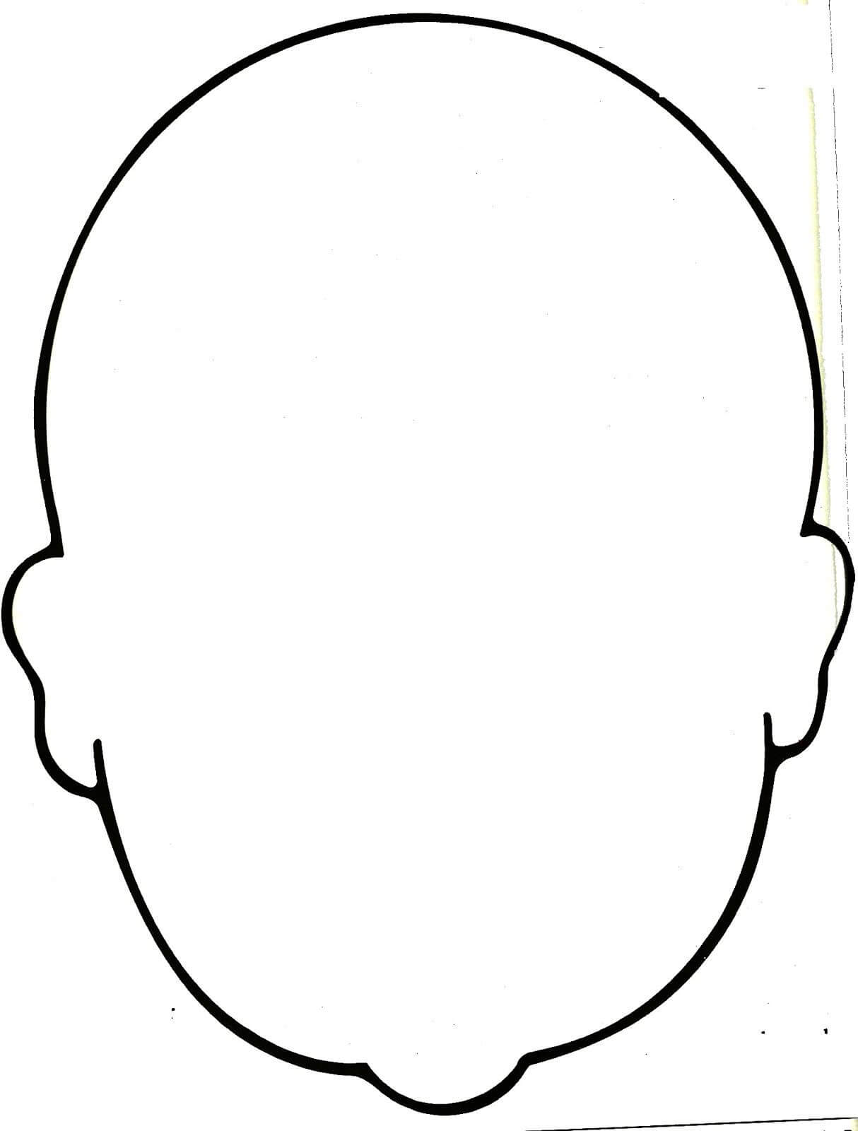 Blank Face Coloring Page - Bing Images | Work Ideas | Face For Blank Face Template Preschool