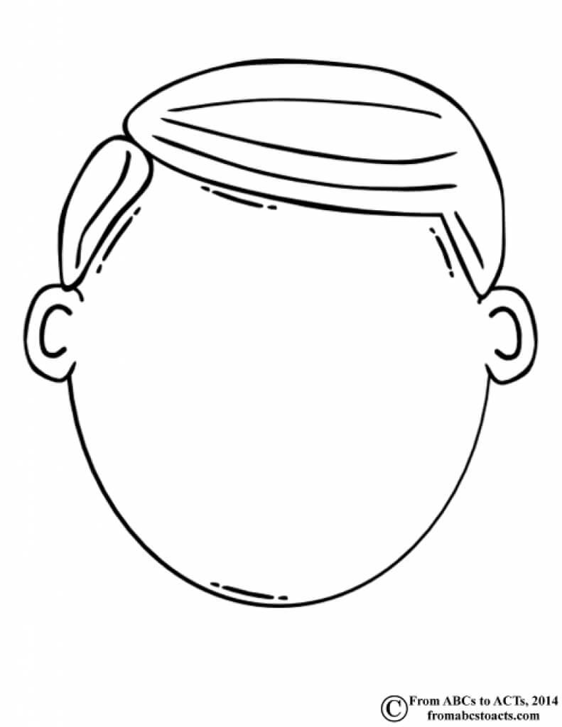 Blank Face Coloring Page – Coloring Home Regarding Blank Face Template Preschool