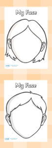 Blank Faces Templates. Free Printables – Children Can Draw for Blank Face Template Preschool