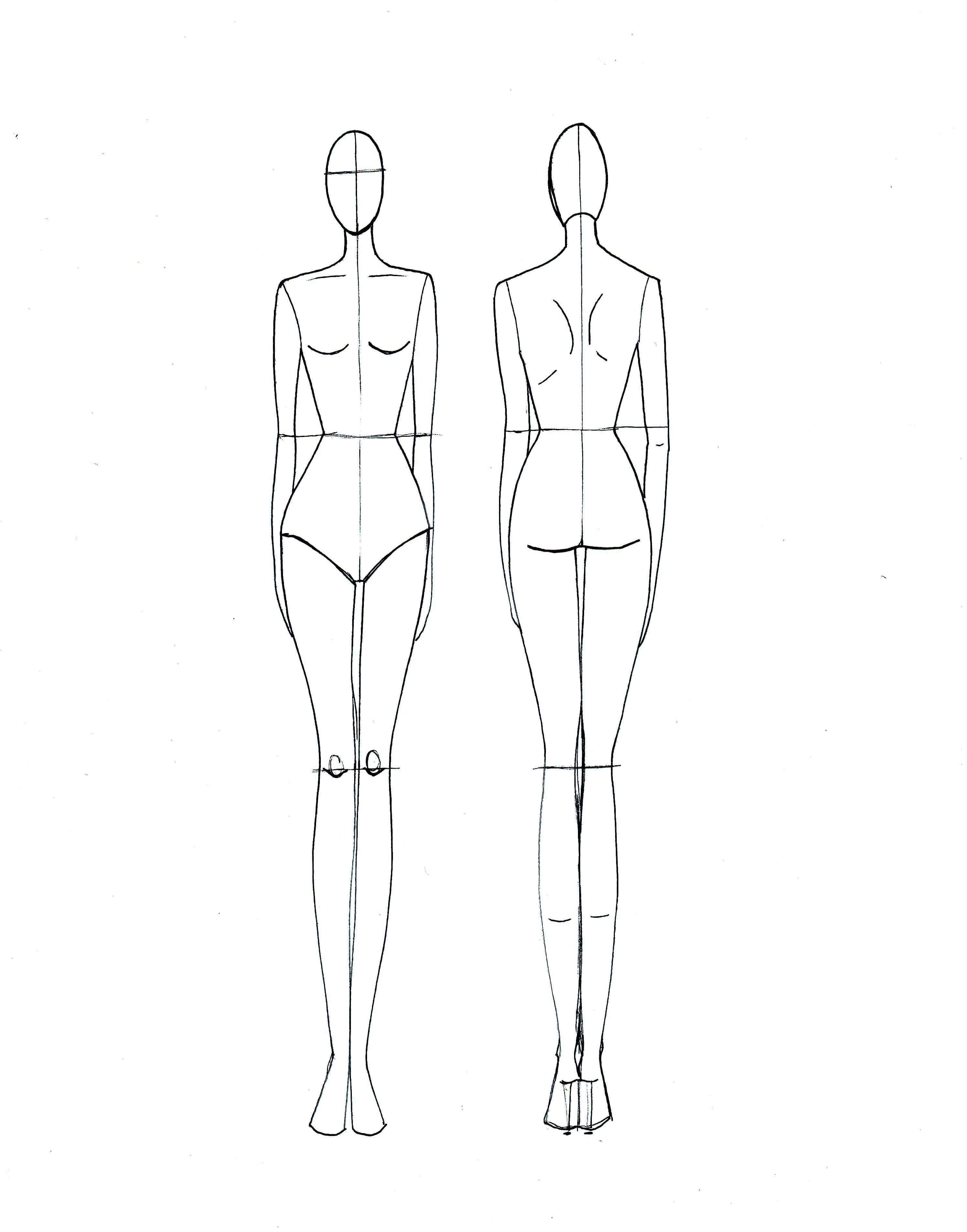 Blank Fashion Design Models | Projects To Try | Fashion Intended For Blank Model Sketch Template