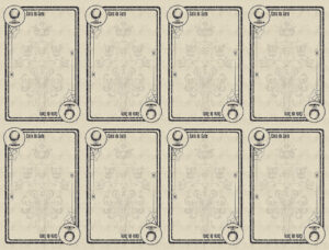 Blank Game Cards | Theveliger intended for Template For Game Cards