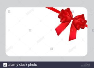 Blank Gift Card Template With Red Bow And Ribbon. Vector intended for Present Card Template