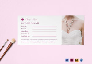Blank Gift Certificate Template in Indesign Gift Certificate Template