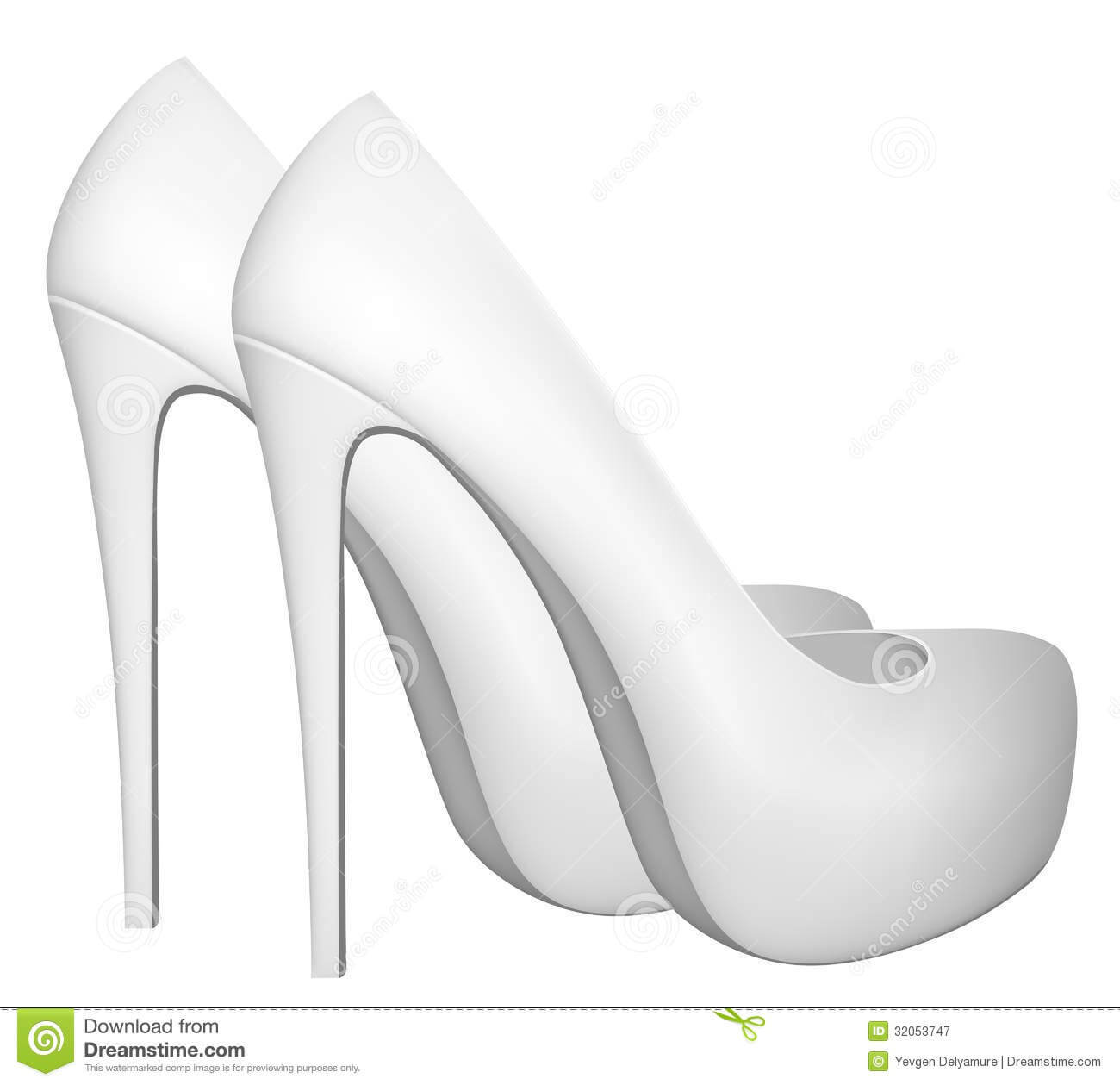 Blank High Heels Shoes Template. Stock Vector – Illustration Pertaining To High Heel Template For Cards