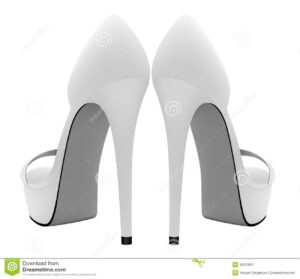 Blank High Heels Shoes Template. Stock Vector – Illustration With High Heel Template For Cards